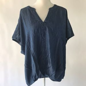 Universal Thread Chambray Short Sleeve Top